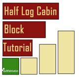 Quilt block-free tutorial-quilt tutorial-half log cabin block