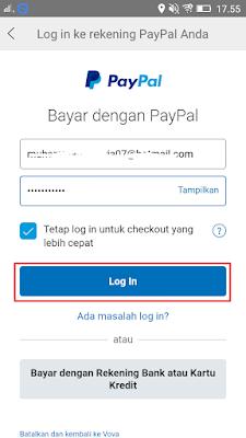 cara login di vova dengan pembayaran paypal