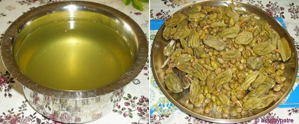 dried salted mangoes and karja