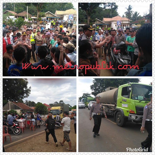 Lagi-lagi Sengketa Pilkades Melakukan Aksi Blokade Jalan Provinsi