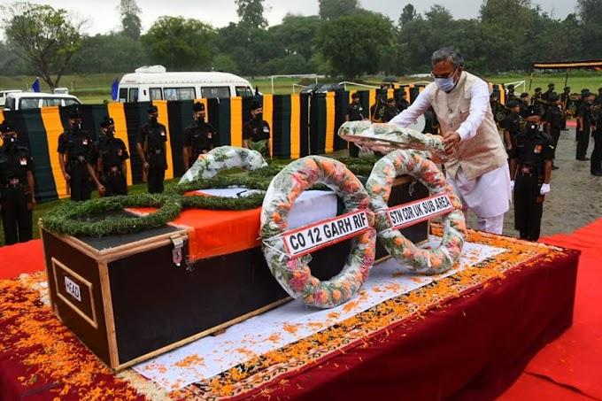शहीद नायक सुरेन्द्र सिंह नेगी को सीएम रावत ने दी भावभीनी श्रद्धांजलि