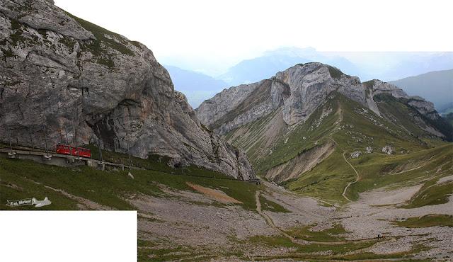 Trem de cremalheira, Monte Pilatus, Suíça