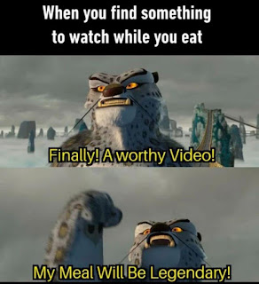 Eating with a Video Meme