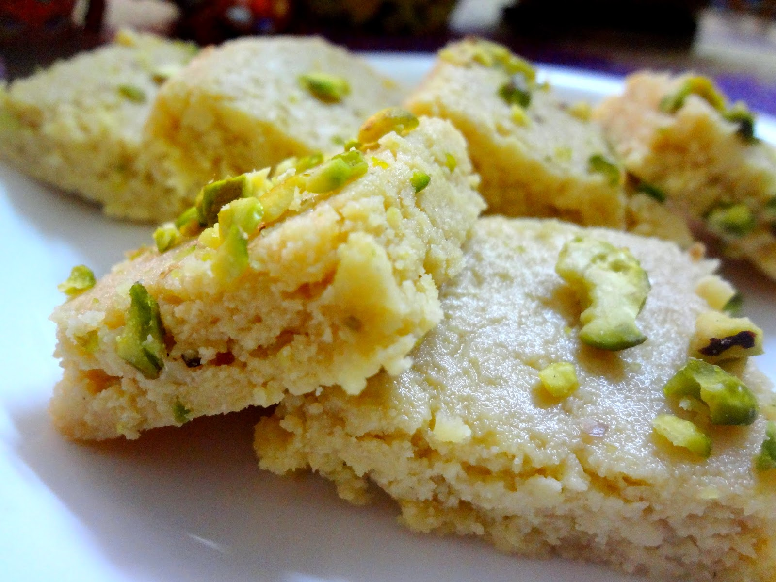 kalakand Bengali sweet made with condensed milk.