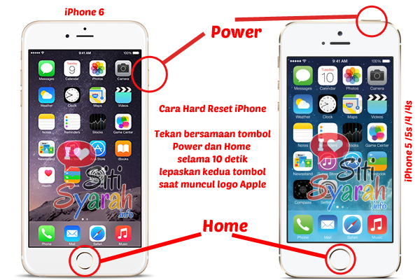 cara hard reset iPhone yang hang