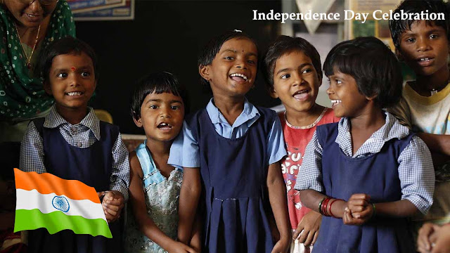 India's 73rd Independence Day celebration in school