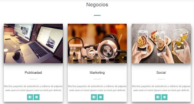 Landing page para Blogger