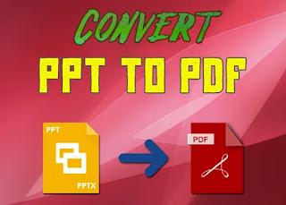 best ways to ppt to pdf converter