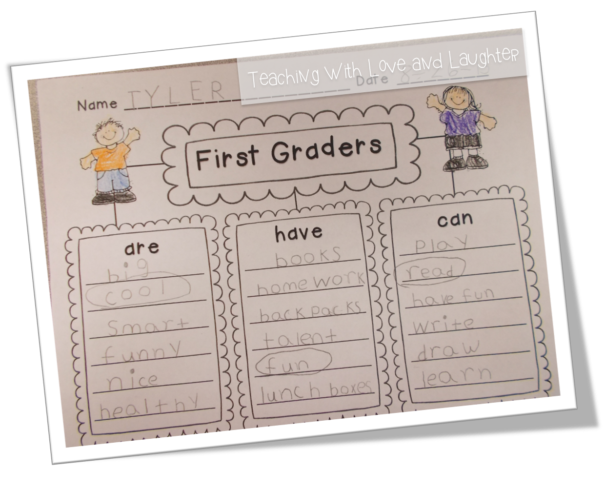teaching love and laughter kindergarten and first grade writing kindergarten and first grade writing