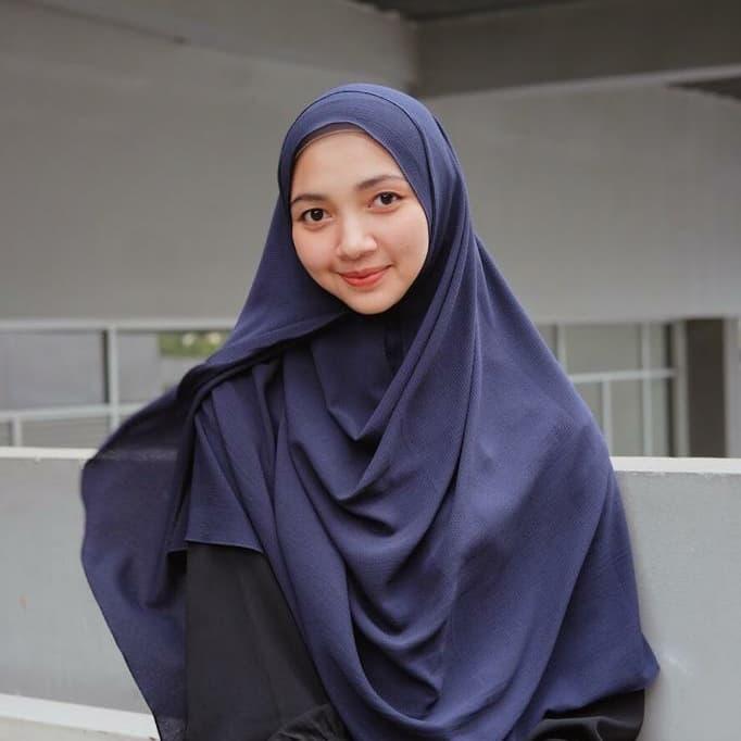 Jilbab Pashmina Instan Syari Jumbo Premium Venus Biru Dongker