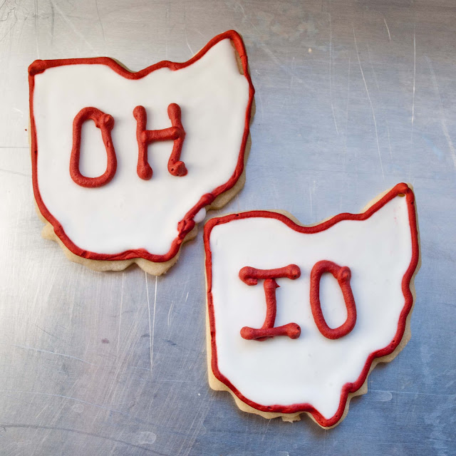 Ohio State Buckeyes Cut Out Cookies | Neighborfoodblog.com
