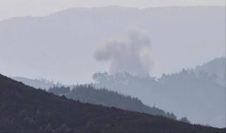 Allahu Akbar! Pejuang Suriah Jatuhkan Helikopter Syiah Nushairiyah di Latakia
