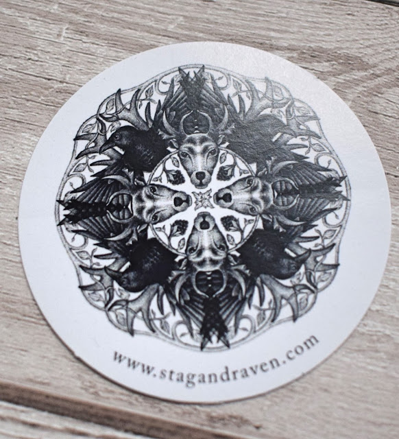 Stag and Raven postcard