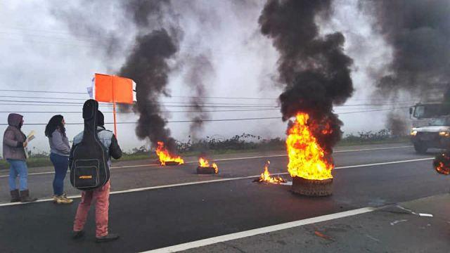 Manifestación Ruta 5