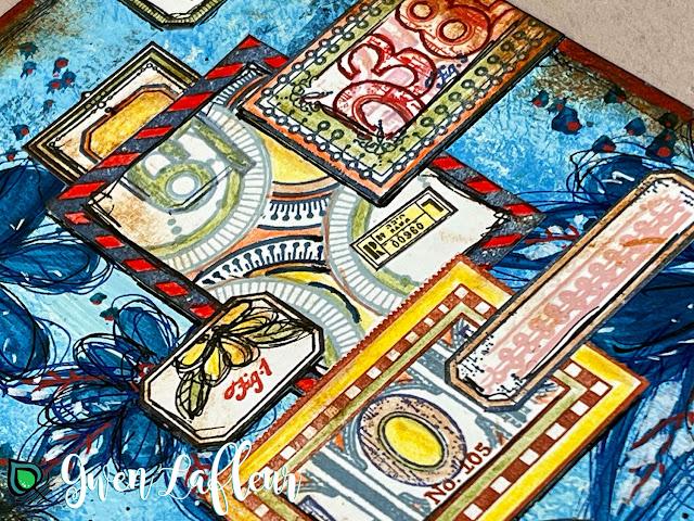EGL21 Stamp Set - Labels Collage Closeup - Gwen Lafleur