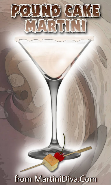 Pound Cake Martini Cocktail Recipe