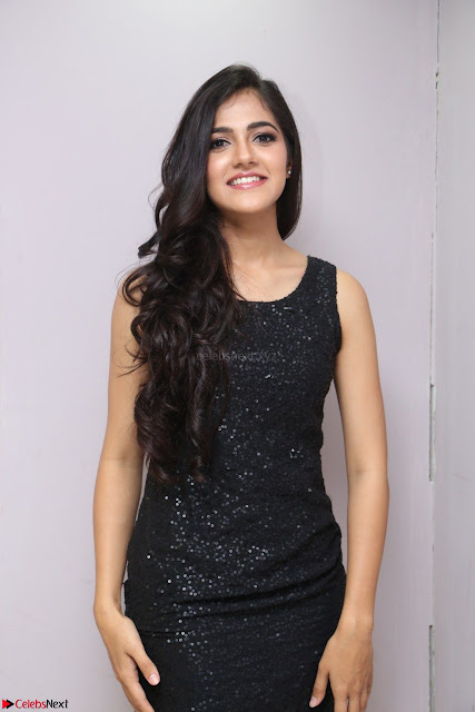 Simran Chowdary Model in Beautiful Black Dress at FBB Miss India 2017 finalists at Telangana auditions (1).JPG