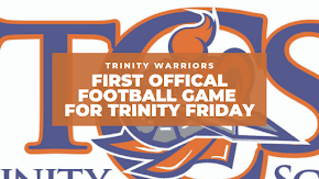 First official football game for Trinity Christian School Warriors on Friday