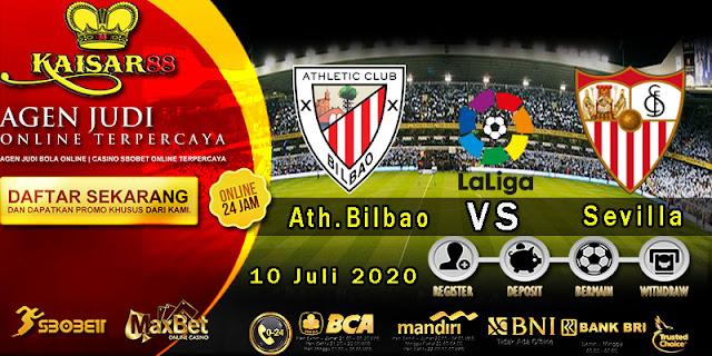 Prediksi Bola Terpercaya Liga Spanyol Ath.Bilbao vs Sevilla 10 Juli 2020