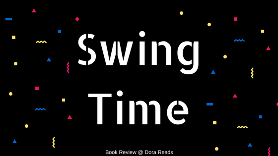 Swing Time title image - white writing against a black background with geometric shapes in the background