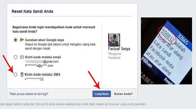 Cara membuka facebook yang lupa kata sandi email dan no tidak aktif