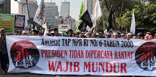 Salah Satu Tuntutan Aksi Mujahid 212, Presiden Tidak Dipercaya Rakyat Wajib Mundur