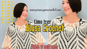 Patrones de Blusa-capa a crochet con video tutorial