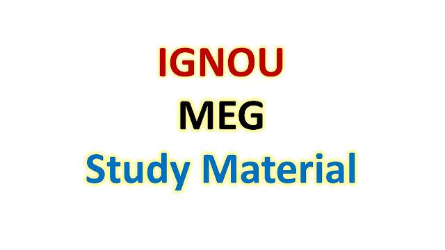 IGNOU MEG Study Material