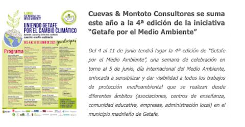 """Cuevas y Montoto Consultores se suma a la 4ª edición de la semana """"Getafe por el Medio Ambiente"""