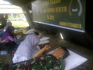 Jelang HUT TNI, Kodim Abdya Donor Darah