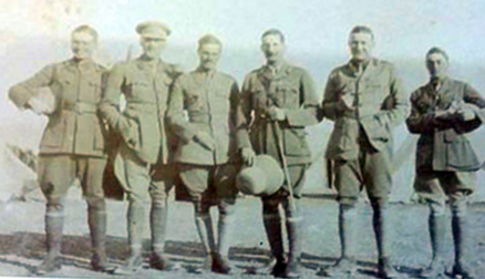 Photograph of officers from the Wana Column circa - Robin W.G. Stephens is at far left. (photograph courtesy of Nick Hinton)