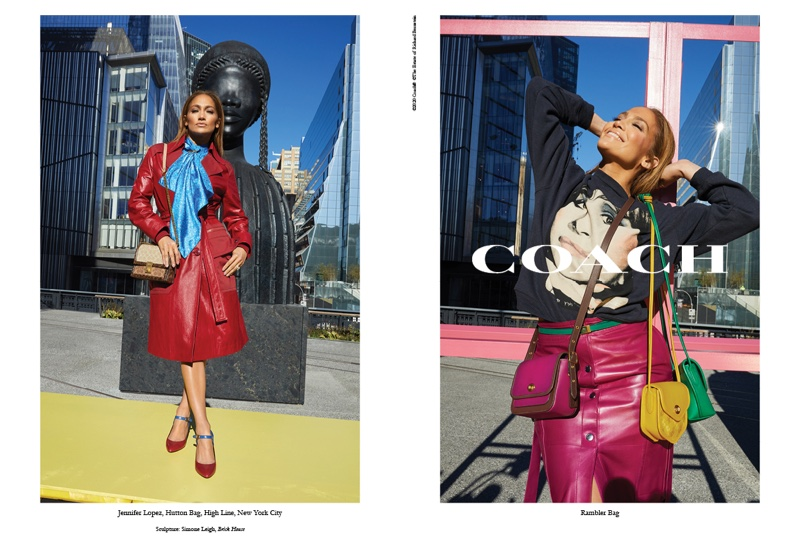 Singer and actress Jennifer Lopez poses for Coach spring-summer 2020 campaign