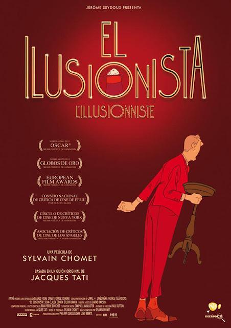 Cartel de la película de animación el ilusionista de Sylvain Chomet