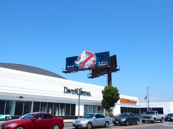 Ghostbusters movie logo billboard