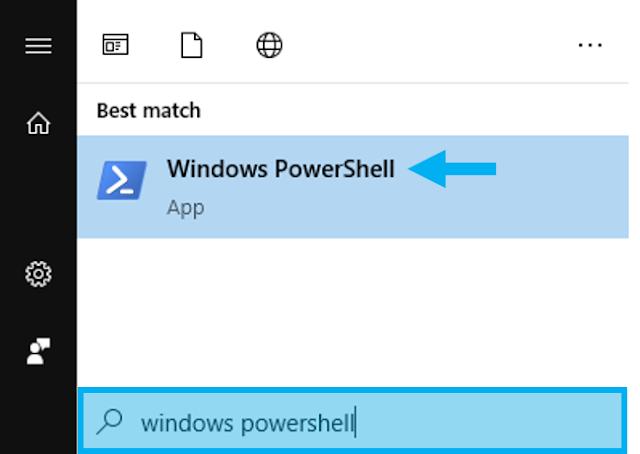 Membuka Windows PowerShell