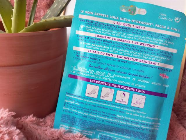 Masque Hydratant Pieds en tissu de Loua