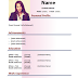 Download CV Simple Model WORD and Color Pink (2 pages)