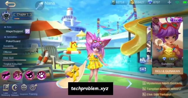 Skin Nana Sundress Full Efek Gratis Mobile Legends