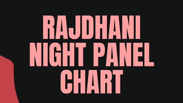 Rajdhani Night Chart | Rajdhani Night Panel Chart | DpBoss | Satta Matka | Satta Matta Matka 2021