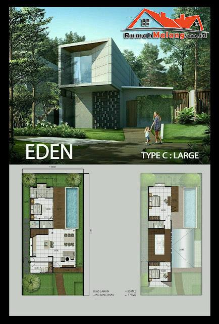 Rumah dijual murah desain mewah modern