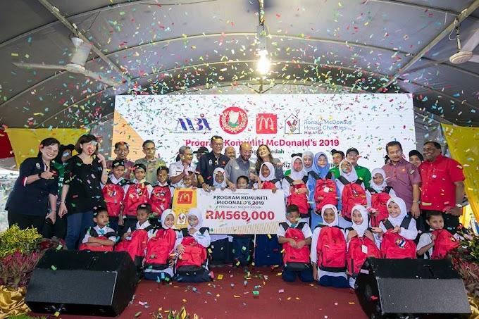 Lebih RM560k sumbangan dari McDonald's untuk Program Komuniti Peringkat Negeri Kedah.
