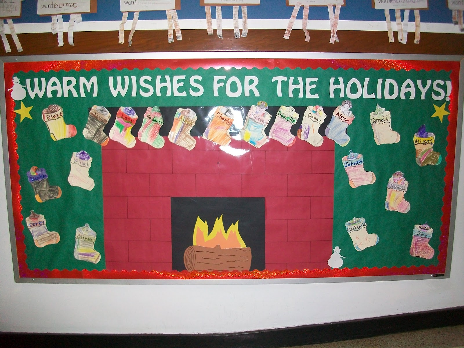 Kindergarten Is A Hoot Christmas Bulletin Board