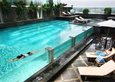 kolam renang cambridge hotel medan