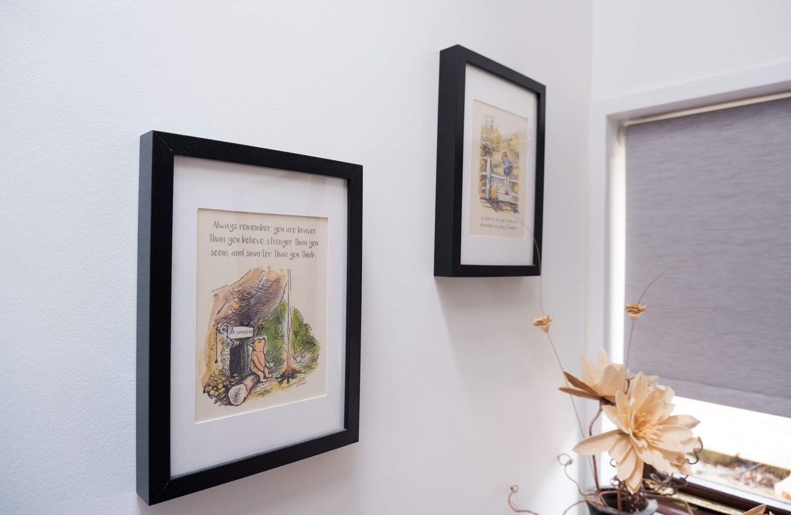 Winnie the Pooh artwork at the Hundred Acre Wood studio