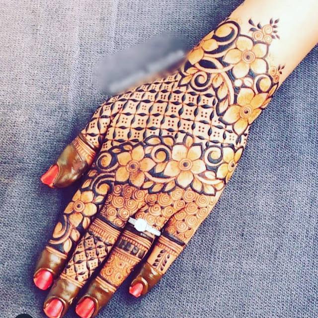 simple arabic mehndi designs for fingers
