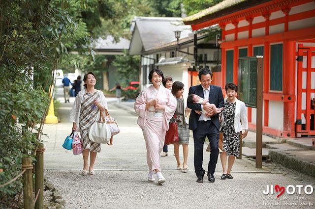 下鴨神社でのお宮参り出張撮影