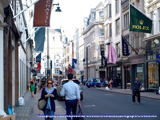 Tiendas exclusivas en Old Bond Street