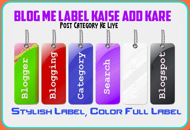 Blogger Post Category Ke Liye Label Add Kaise Kare- Colorful Or Stylelish Label Add Kare