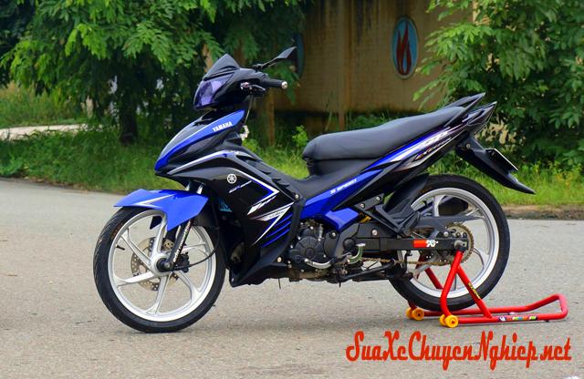 Yamaha Exciter sơn phối màu xanh đen