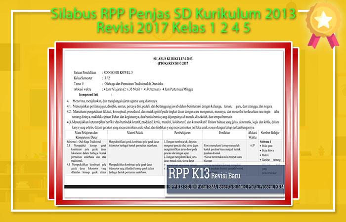 Silabus PJOK SD Kurikulum 2013 Revisi 2017